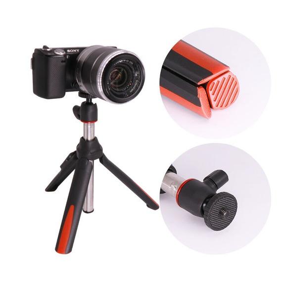 Mini-tripé Benro Mk10 Bluetooth Bastão Pau Selfie Vermelho
