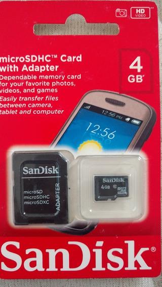 Cartão De Memória Sdcard Microsdhc 4gb Sandisk