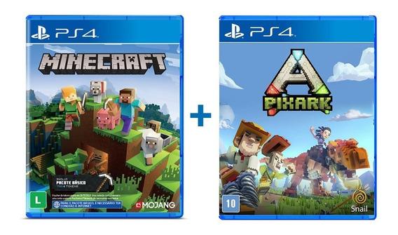 Minecraft + Pixark - Ps4 - Novo - Lacrado - Física