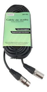 Cable Extencion Plug Cannon /jack Cannon 7.6 Metros 080-853