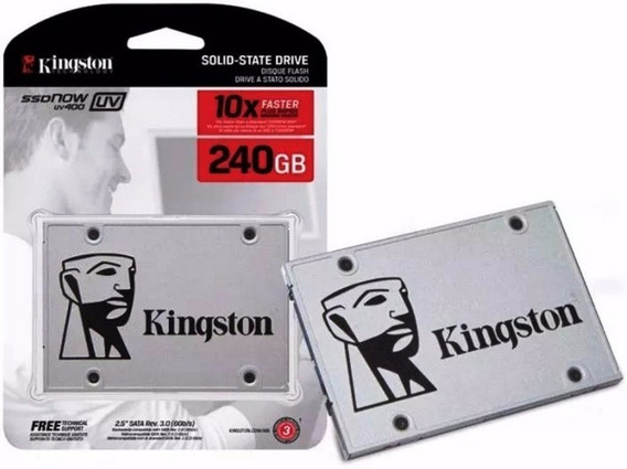 Hd Ssd Kingston 240gb Ssdnow A400 Sata 3 6gb/s 12x Sem Juros