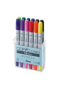 Copic Ib12 Ciao Markers Basic Set, 12 Piezas