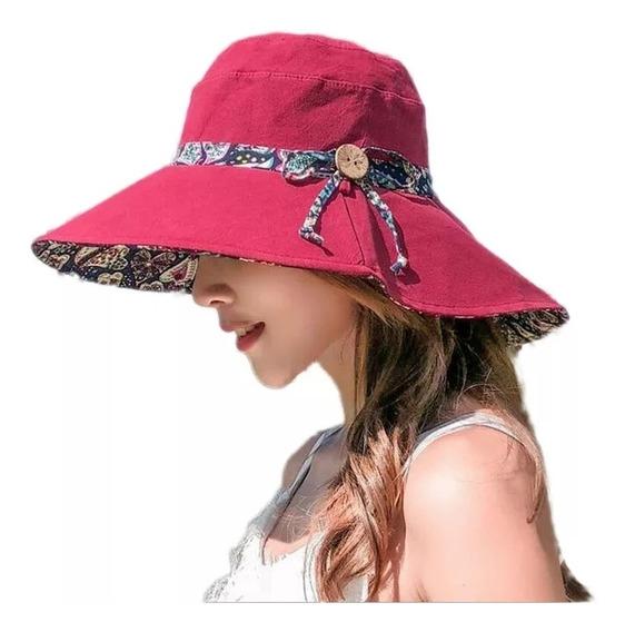 Sombrero Con Protección Solar Uv Fps Para Playa Reversible