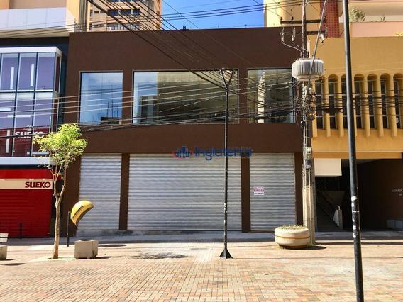 Salão Para Alugar, 2000 M² - Centro - Londrina/pr - Sl0019