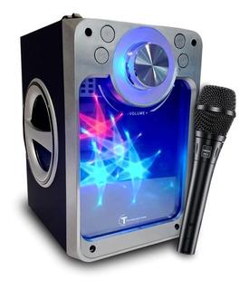 Parlante Bluetooth Roots Inalambrico Karaoke C/ Micrófono 04
