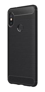 Funda Tpu Carbono Rugged Xiaomi Redmi Note 6 Pro + Templado