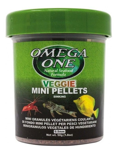 Veggie Micro Pellets 50gr Omega One Para Peces Tropicales