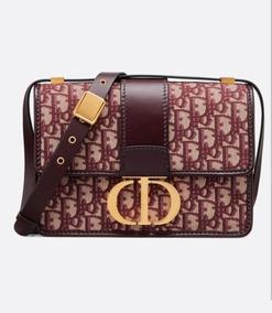 Bolsa Dior Montaigne 30 Oblique Bordo Lançamento 19