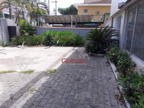 Casa Comercial Com 3 Dormitórios Para Alugar, 200 M² Por R$ 8.900/mês - Embaré - Santos/sp - Ca0084