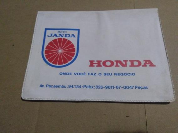 Capa Proteção Manual Moto Janda Concessionária Honda Época -