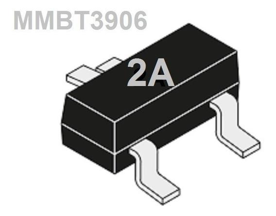 Transistor Mmbt3906 2a Sot23 Smd Npn Uso Geral 10 Unidades