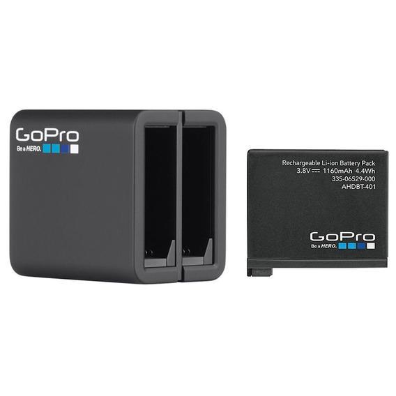 Carregador Duplo Hero 4 + Bateria Original Gopro - Ahbbp-401