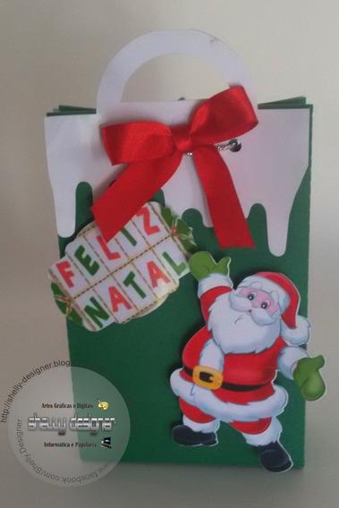 10 Sacola Personalizada Tema Natal