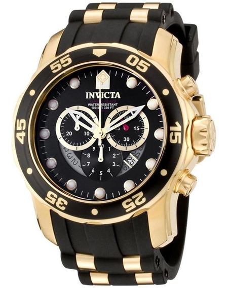 Relógio Top Invicta Pro Diver 6981 Banhado Ouro 18k Original