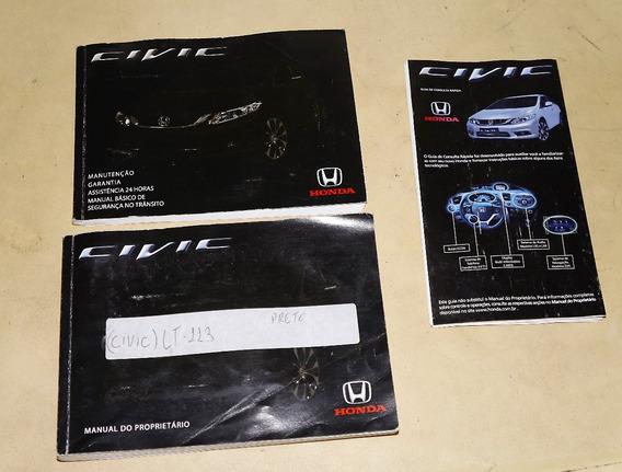 Manual Do Proprietario Honda Civic 2015 A 2016 3 Livretos