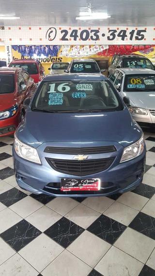 Chevrolet Onix Ls 1.0 Ano 2016 Azul 5 Portas