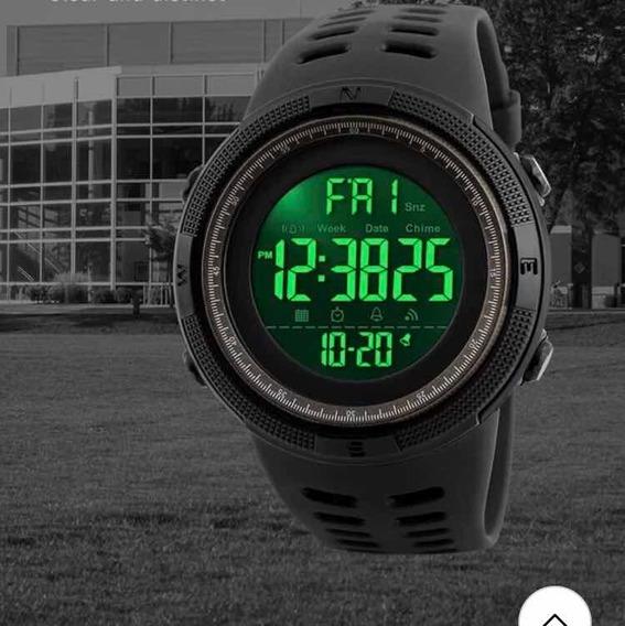 Relógio Esportivo Pulseira Silicone Masculino Feminino Digital Prova D Água Caminhada Aventuras + Brinde