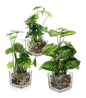 Conjunto Mygift De 3 Plantas Artificiales, Vegetación De Me
