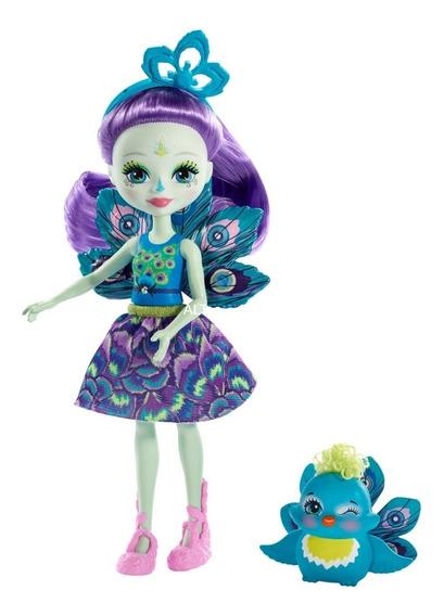 Boneca Fashion E Pet - Enchantimals -patter Peacock E Flap -