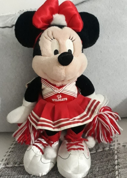 Pelúcia Minnie 30cm Líder Torcida Wildcats Original Disney