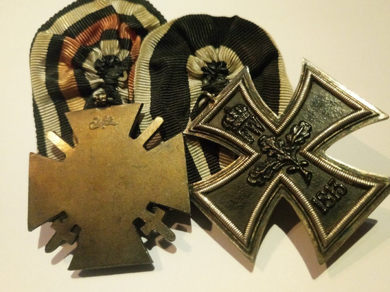Lote Medalha Cruz De Ferro 2ª Classe 1813 + Cruz Hindenburg
