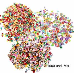 10000 Und Fimo Mix Unha Slime Nail Art Frutas Flores Animais
