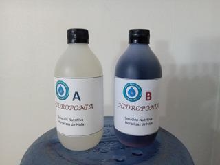 Solucion Nutritiva A + B Concentrada. Hidroponía