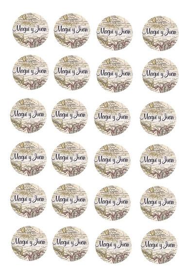 Stickers Para Sobres Personalizado Por Plancha