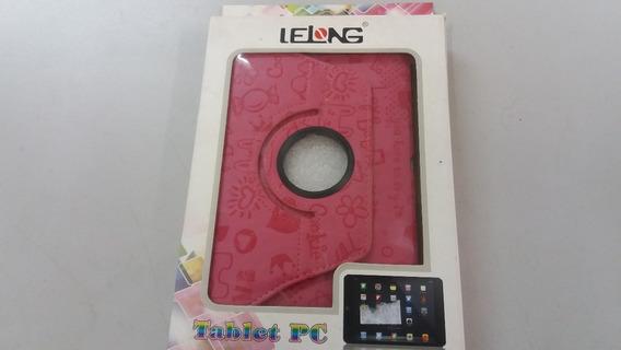 Capa Case Girat Couro Vermelho Tablet P6200 18,8x12cm Lelong