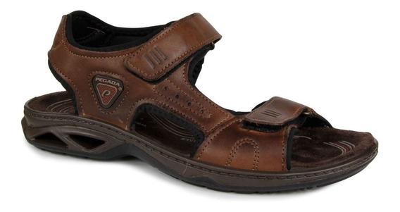Sandalia Masculina Pegada 132906-01 Em Couro - Pinhao