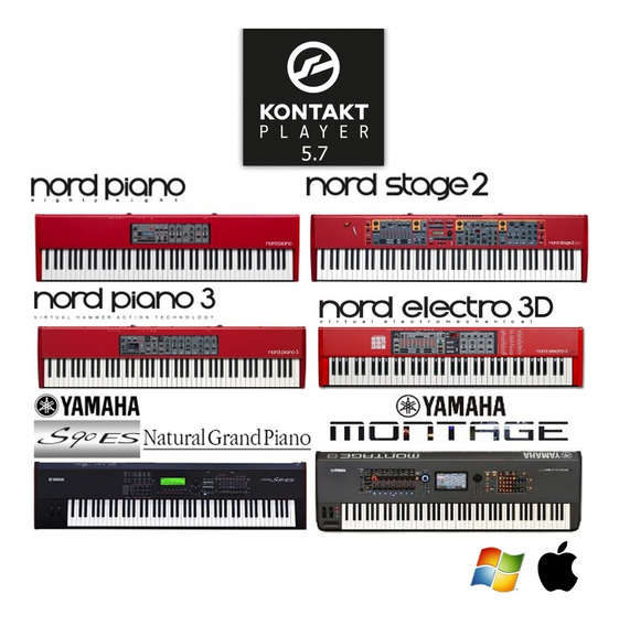 Nord Piano + Nord Stage 2 + Nord Piano 3 + Elect 3d + Yamaha