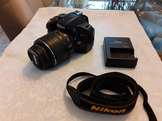 Nikon D3200 Com Lente 18-55mm Semi Nova