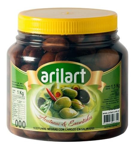 Aceitunas Negras Naturales Grandes X 1 Kg - Arilart