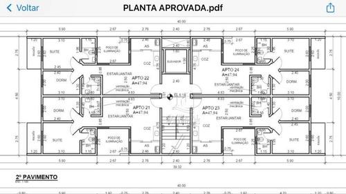 Apartamento À Venda, 47 M² Por R$ 279.000,00 - Santa Maria - Santo André/sp - Ap12143