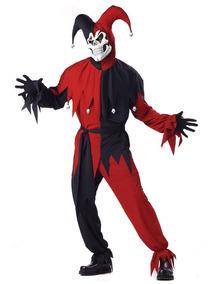 Disfraz De Bufón Payaso Joker Jester