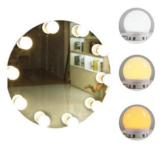 Tocador Dormitorio Espejo De Maquillaje Bombilla Led Tira De
