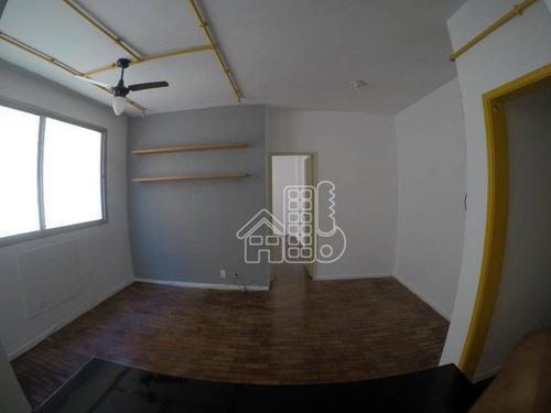Apartamento Com 1 Dormitório Para Alugar, 57 M² Por R$ 1.400,00/mês - Icaraí - Niterói/rj - Ap4195