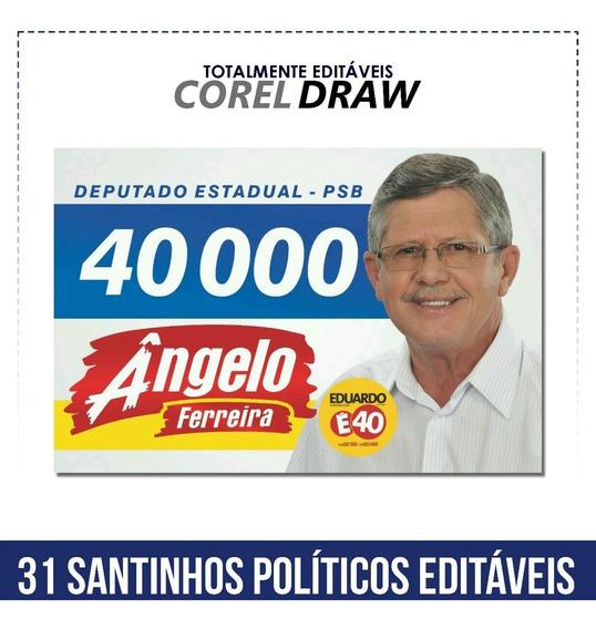 Santinhos Políticos Editáveis No Corel Draw