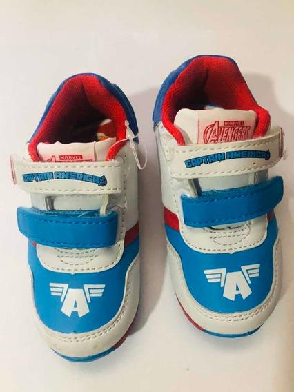 Zapatillas Marvel Capitán América Con Abrojo