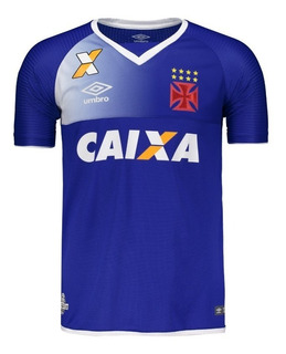 Camisa Vasco Goleiro Azul Royal Oficial Umbro 2017 / 2018