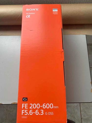 Lente Sony Fe 200-600mm F5.6-6.3 G Oss Com Nf
