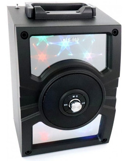 Parlante Portátil Bluetooth Karaoke Potenciado Kts Luz Led