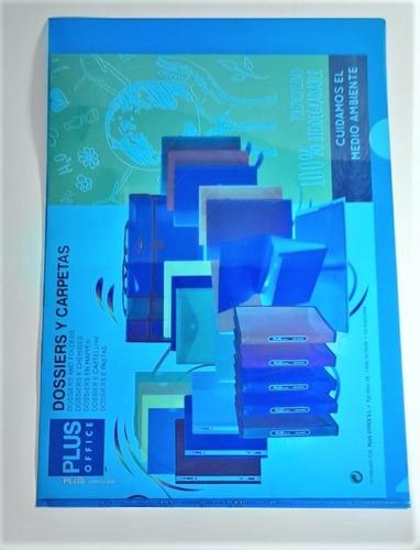 Carpeta En L  A4  Color Azul  Paquete De 10 Unidades