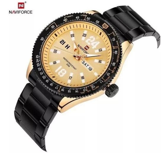 Relógio Masculino Analógico Naviforce Lançamento Original