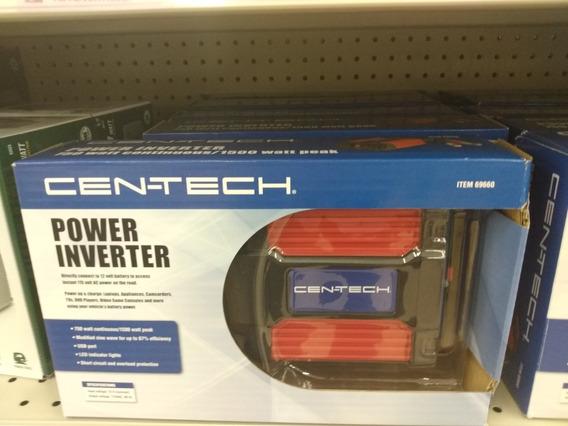 Cen-tech Inversor Corriente 750w/1500w Auto Paneles Solares