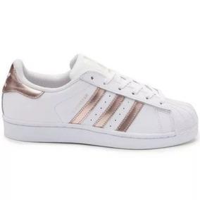 748efab45de Sapatos Casuais adidas Original Superstar Rose Gold Feminino