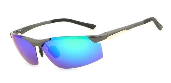Óculos De Sol Hdcrafter Polarizado - Azul