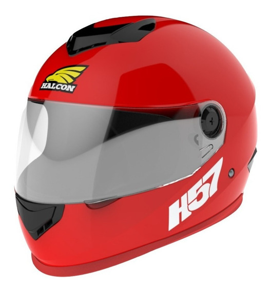 Casco para moto integral Halcon H57 rojo talle S