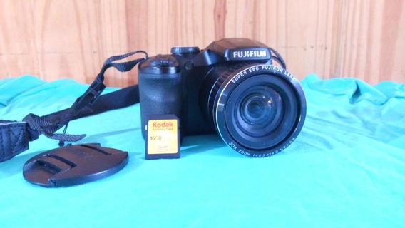 Câmera Fujifilm Finepix S4800 16mp 30x Zoom + Cartão 16 Gb