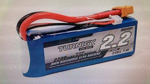 Turnigy 2200 Mah 2s 20 °c Lipo Paquete W/xt60u Conector